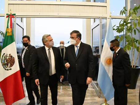 El presidente de Argentina, Alberto Fernández, llega a México para gira de 3 días