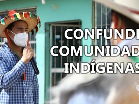 Presidente de Comitán CONFUNDE sus comunidades indígenas, denuncian usuarios