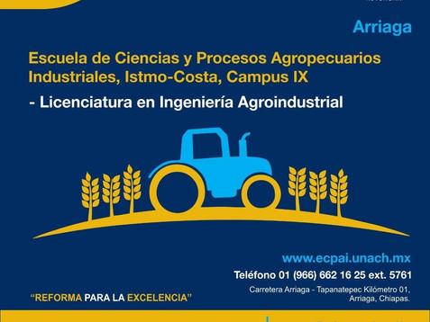La UNACH ofrece la Licenciatura en Ingeniería Agroindustrial en la convocatoria del ciclo escolar ju