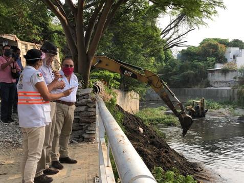 Para prevenir inundaciones se han retirado más de mil toneladas de material de arrastre del río Sabi
