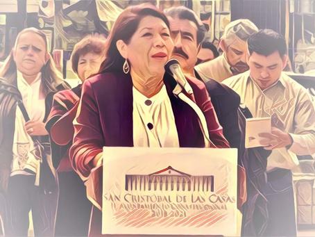 Jerónima Toledo Villalobos, alcaldesa del MORENA en SCLC, no le atina a una