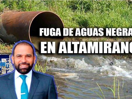 Por más de 15 días, Altamirano se mantiene con problemas de aguas negras