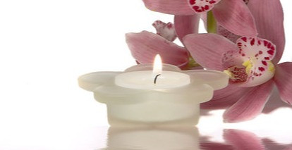 candle and orchid