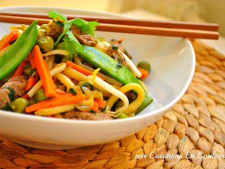 Idée recette légère, complète et parfumée Wok de légumes & poisson