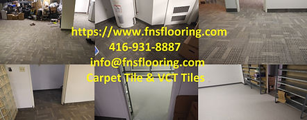 Carpet Tile an VCT - commercial basement