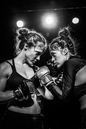 Shannon Murray and Roxana Sanchez square off
