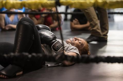 Rag Doll MMA film by Bailey Kobe Shannon Murray hits the mat