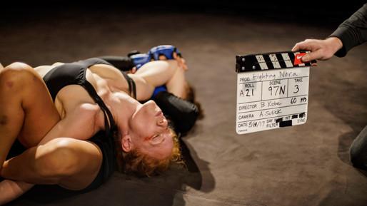 Rag Doll MMA film by Bailey Kobe - Shannon Murray Roxana Sanchez slate.