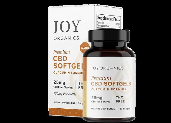 Joy Organics 25mg Softgels with Curcumin - 750mg Bottle