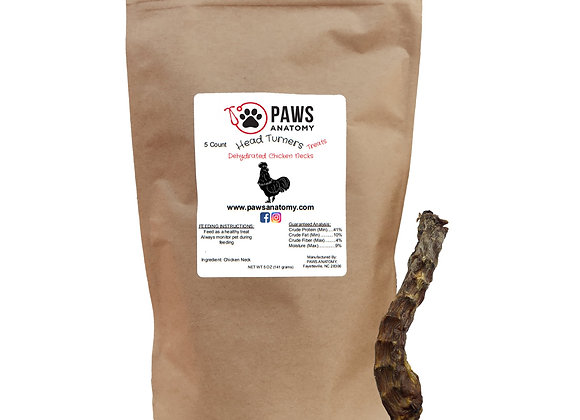 Paws Anatomy Chicken Necks Dehydrated Dog Treats 5 oz. Bag