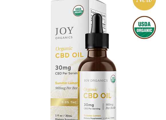 Joy Organics Tincture - 30mg per serving - CBD (Variety flavors)