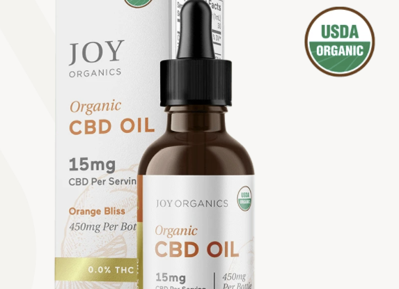 Joy Organics Tincture 15mg per serving CBD (USDA Organic)