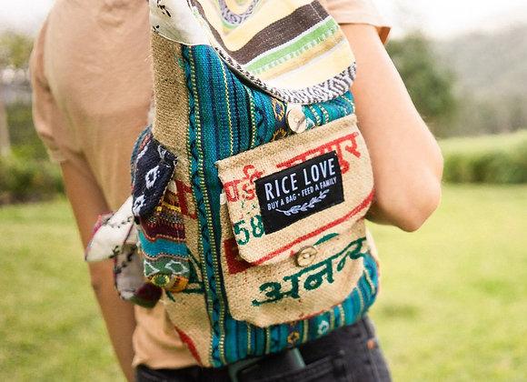 Rice Love Mini Travel Backpack Goa style