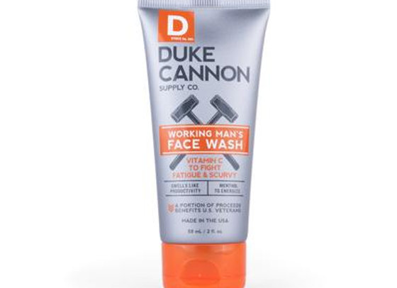 Duke Cannon Working Man's Face Wash 2oz Travel