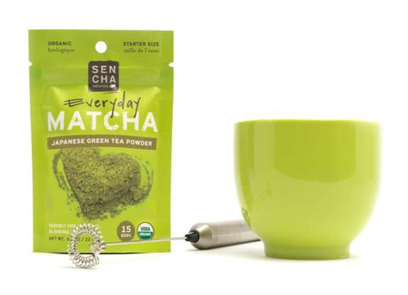 Sencha Everyday Organic Matcha Powder 0.8 oz Starter pack (15 servings)