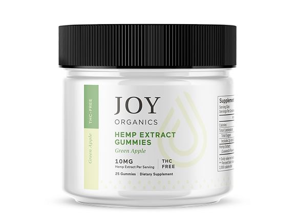 Joy Organics CBD Gummies - Green Apple 300mg