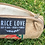 Thumbnail: Rice Love Recycled burlap zipper pouch
