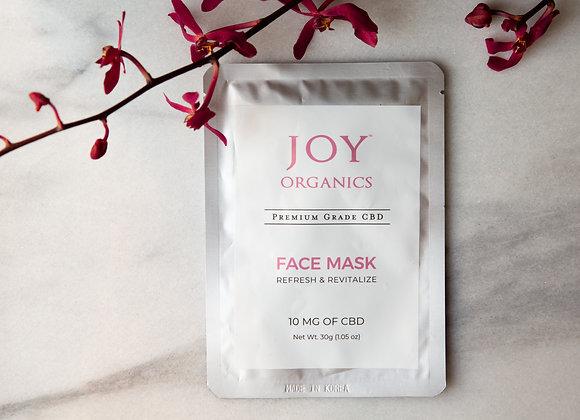Joy Organics CBD Face Mask - 10mg Premium Grade