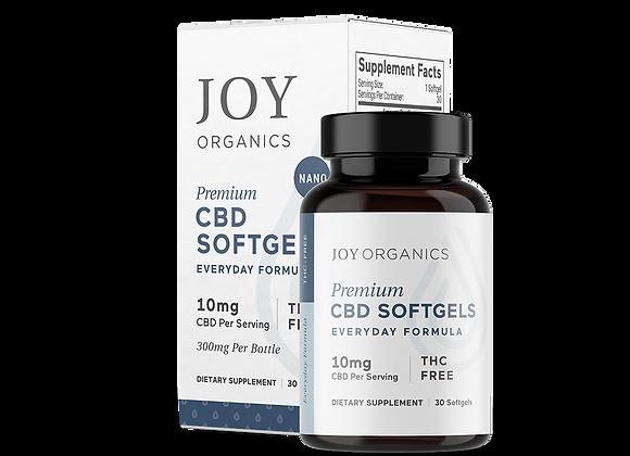 Joy Organics 10mg softgels - Everyday Formula 300mg bottle
