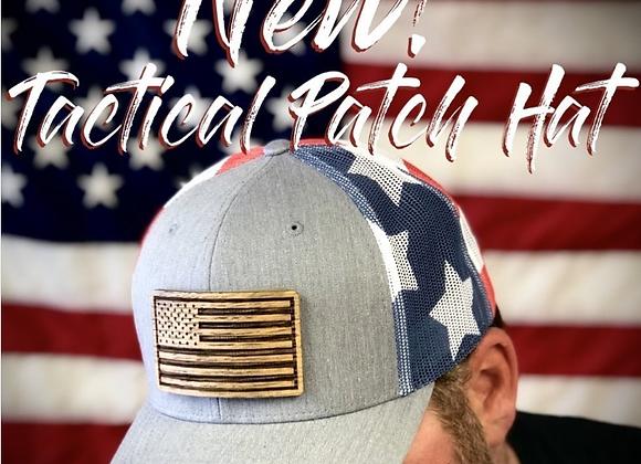 Barrel Wood Patriotic Hat