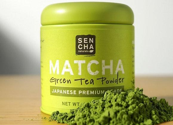 Sencha Matcha Green Tea Powder Premium 1oz Tin