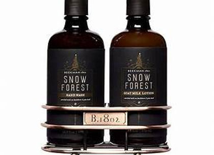 Beekman Snow Forest Hand & Body Wash/ Lotion caddy set