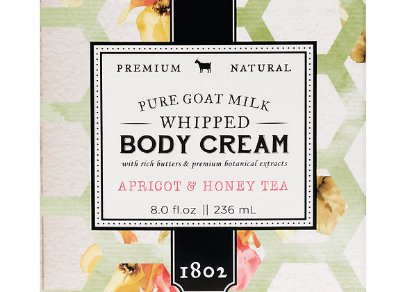 Beekman Apricot & Honey Tea 8 oz. Whipped Body Cream