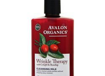 Avalon Organics Wrinkle Therapy with CoQ10 & Rosehip Cleansing Milk 8.5 fl.oz