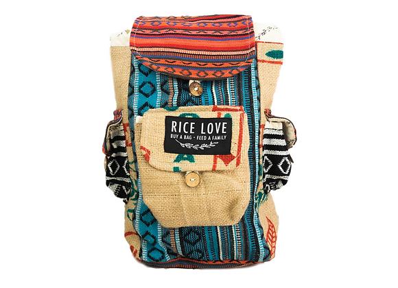 Rice Love Mini Travel Backpack Chennai Style