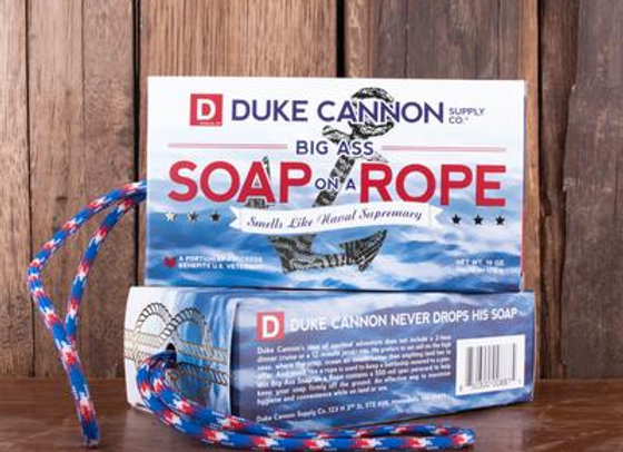 Duke Cannon Soap on a Rope 10 oz (Beer or Naval Supremacy)