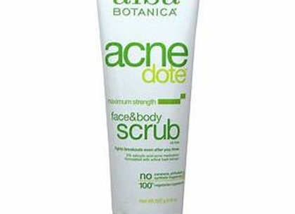 Alba Botanica Acne Dote - Face & Body Scrub 8oz.