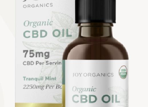Joy Organics CBD Oil Tincture 75mg (Zero THC) Tranquil Mint