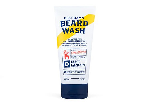 Duke Cannon Best Damn Beard Wash  (6 oz. tube)