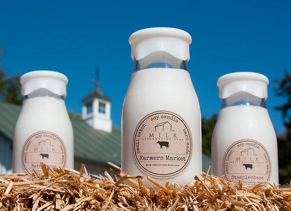 Milk Barn Bottle Candle 12.5 oz.