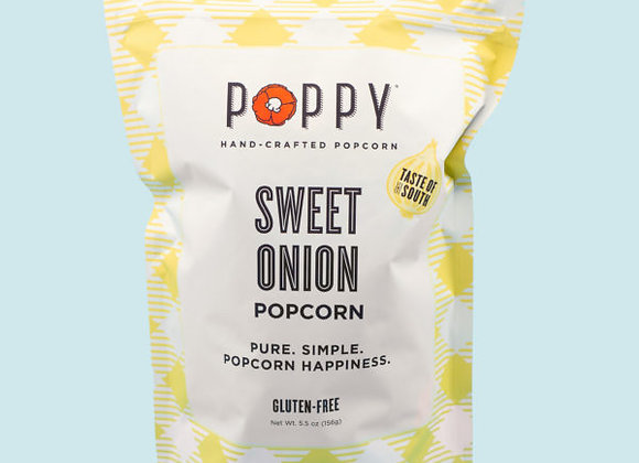 Poppy's popcorn Sweet Vidalia Onion 10 cups Southern Series 5.5 oz. bag