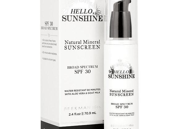 Beekman Hello Sunshine SPF 30 Natural Mineral Sunscreen