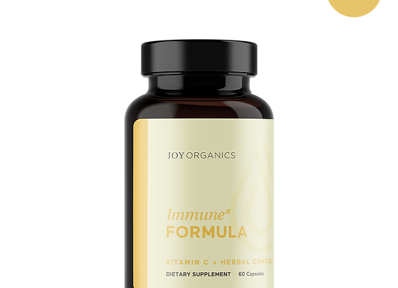 Joy Organics Immune Formula Vitamin C + Herbal Complex Capsules
