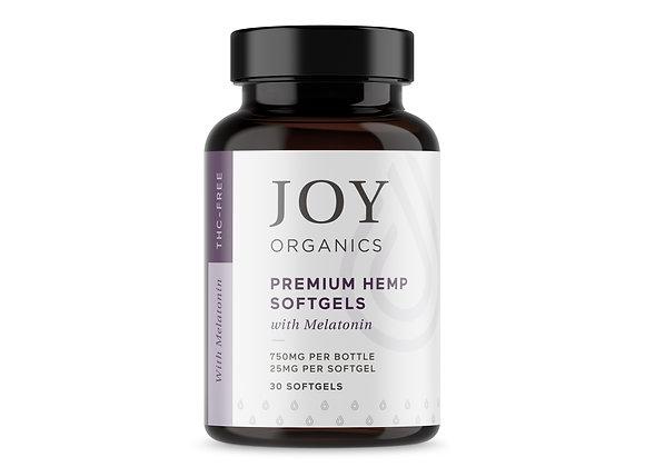 Joy Organics 25mg Softgels with Melatonin 750mg/bottle