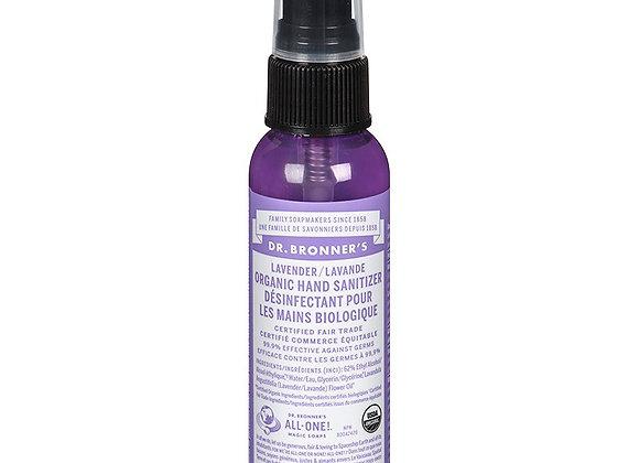 Dr. Bronner's hand sanitizer 2 oz. pump (lavender/peppermint)
