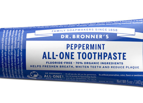 Dr. Bronner's Peppermint Toothpaste 5oz