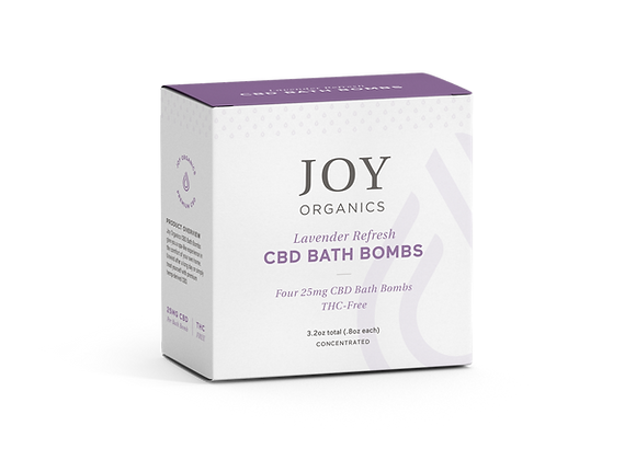 Joy Organics CBD Bath Bombs - 4 Pack, Lavender