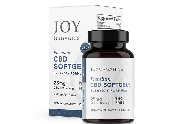 Joy Organics 25mg Softgels (Everyday) 750mg bottle
