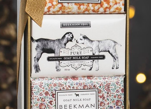 Beekman 3.5 oz Bars Soap Set of 4 Gift Box