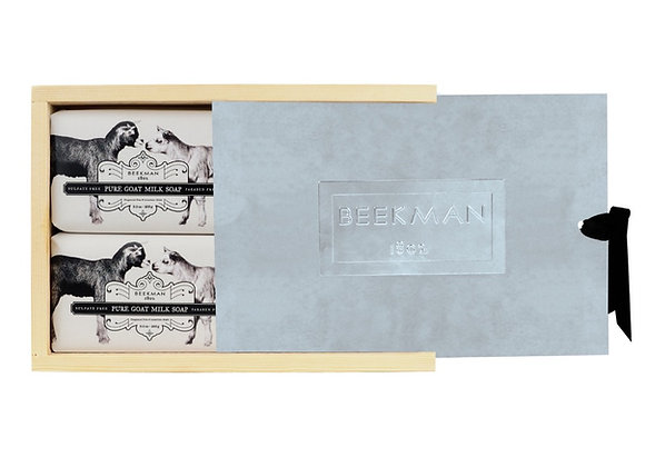 Beekman Wood Box Set- Four 9 oz. Bars