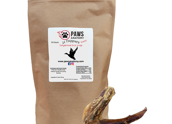 Paws Anatomy Duck Wings Dehydrated Dog Treats 5 oz. Bag