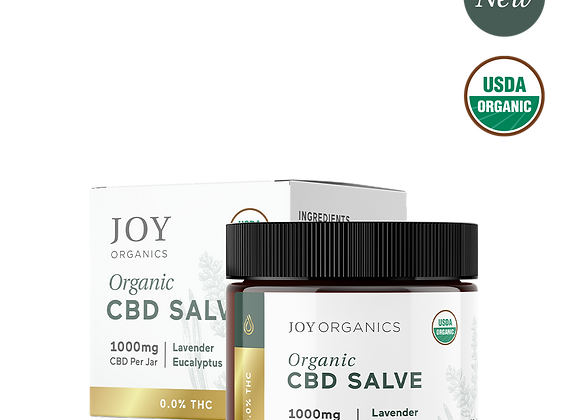 Joy Organics 1000mg CBD Salve - USDA Organic Premium Hemp Extract 2oz Jar