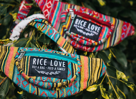 Rice Love Hip (fanny) Pack - Jaipur/Natural/Kochi style