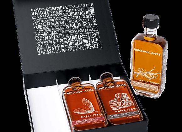 Runamok 3 bottle Gift Box Set Maple Syrups
