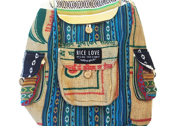 Rice Love Full Size Backpack Goa style