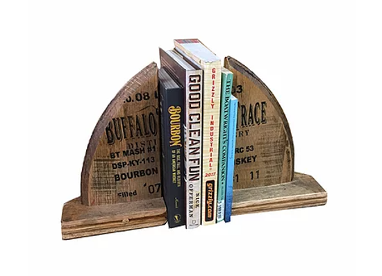 Bourbon Barrel Head Book Ends (Pair)